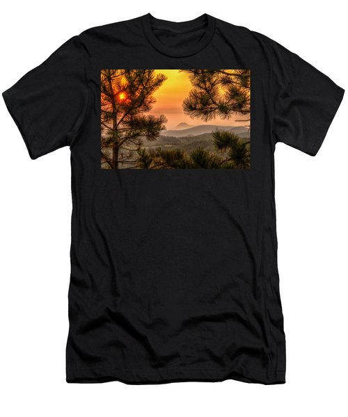Smoky Black Hills Sunrise Men's T-Shirt (Athletic Fit)