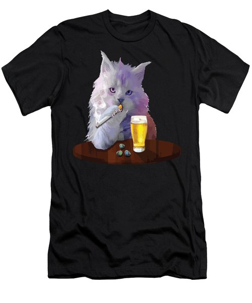 Smoky Cat Men's T-Shirt (Athletic Fit)