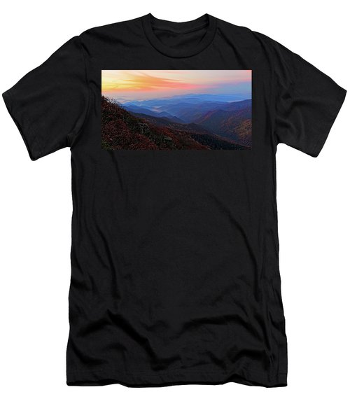 Dawn From Standing Indian Mountain Men's T-Shirt (Athletic Fit)