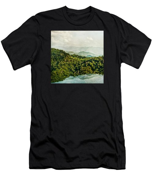 Smoky Mountain Reflections Men's T-Shirt (Athletic Fit)