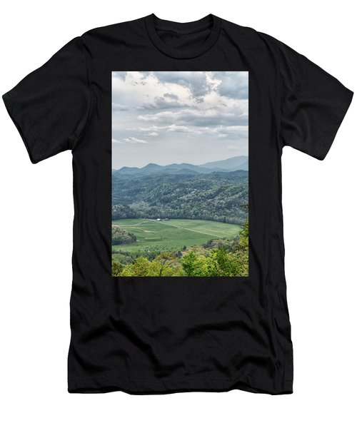Smoky Mountain Scenic View Men's T-Shirt (Athletic Fit)