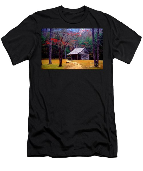 Smoky Mtn. Cabin Men's T-Shirt (Slim Fit) by Paul W Faust -  Impressions of Light