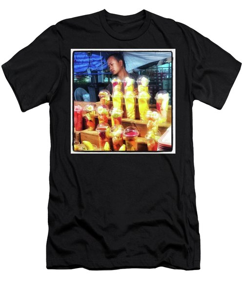 Men's T-Shirt (Athletic Fit) featuring the photograph Smoothie Nirvana. Choose A Cup Of by Mr Photojimsf
