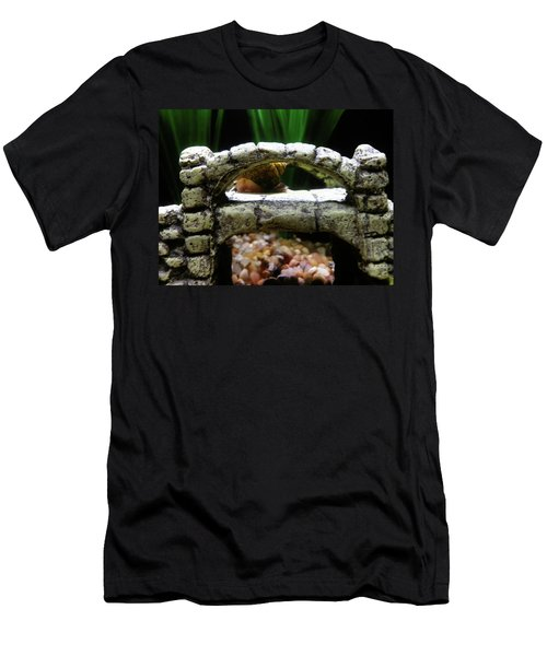 Men's T-Shirt (Athletic Fit) featuring the photograph Snail Over A Bridge by Robert Knight