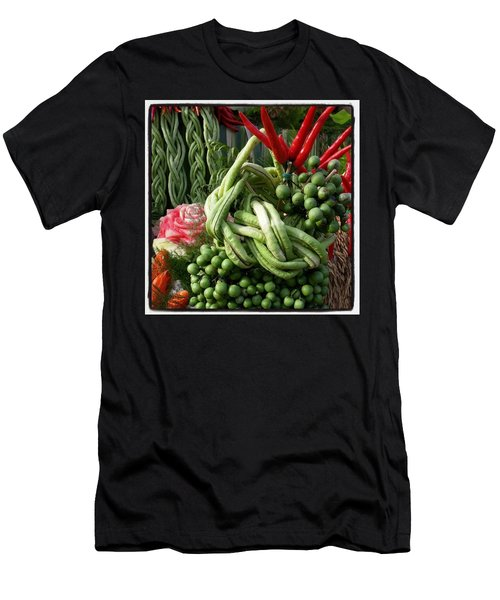 Men's T-Shirt (Athletic Fit) featuring the photograph Snake Beans. At The Surin Elephant by Mr Photojimsf