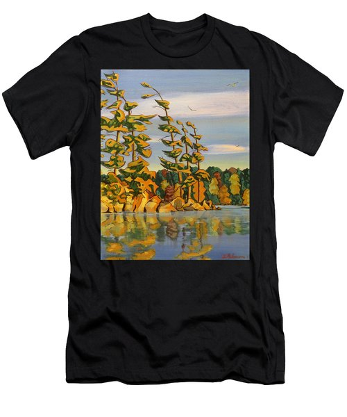 Snake Island In Fall Sunset Men's T-Shirt (Athletic Fit)