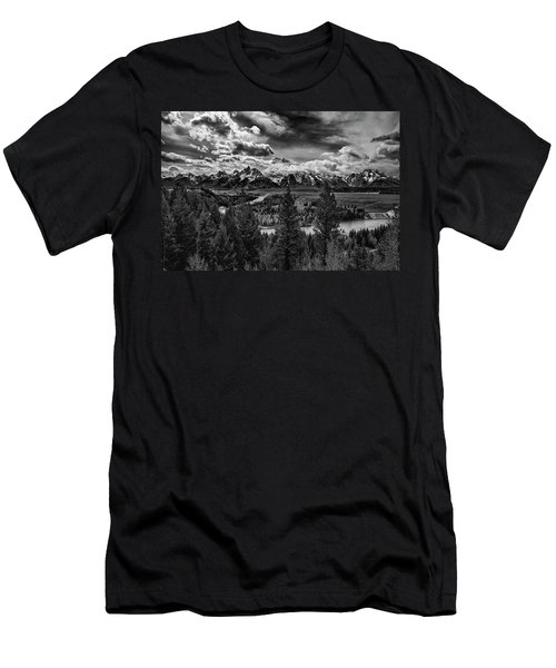 Snake River And Tetons Men's T-Shirt (Athletic Fit)