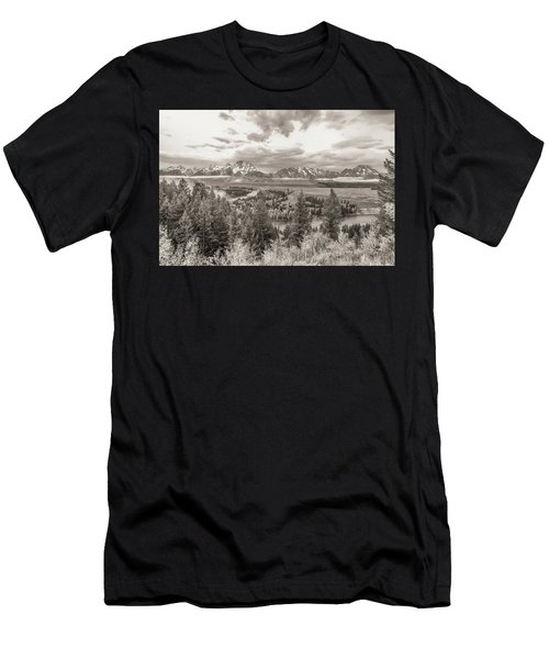 Snake River Overlook Grand Teton Men's T-Shirt (Athletic Fit)