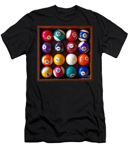 Snooker Balls Men's T-Shirt (Athletic Fit)
