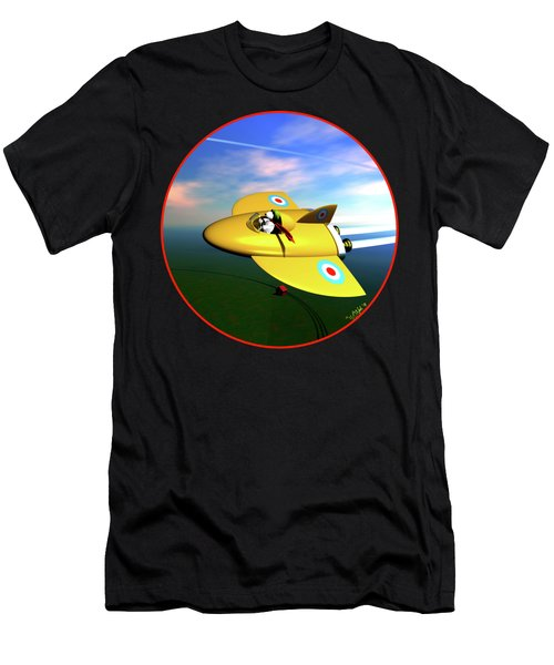 Snoopy The Flying Ace Men's T-Shirt (Athletic Fit)