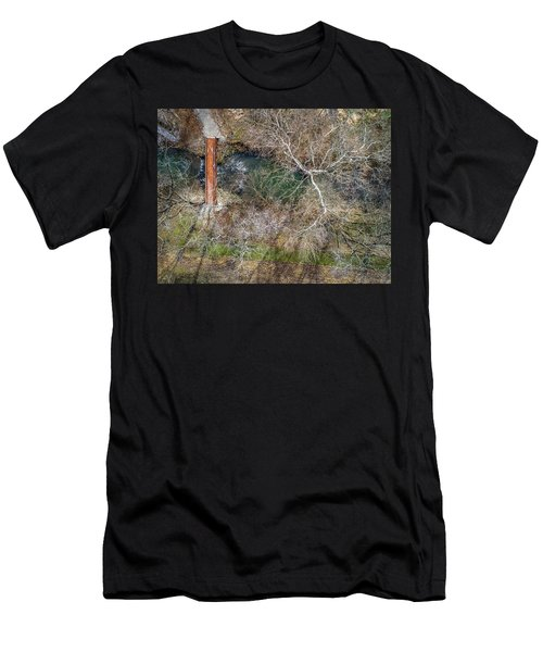 Snow Around The Creek Men's T-Shirt (Athletic Fit)