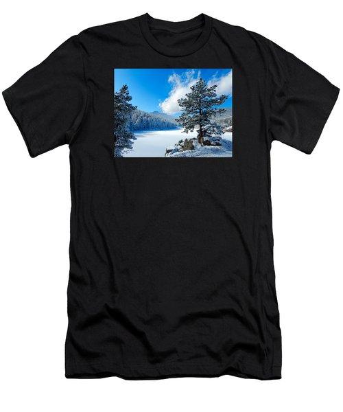 Snow At Beaver Brook Men's T-Shirt (Athletic Fit)