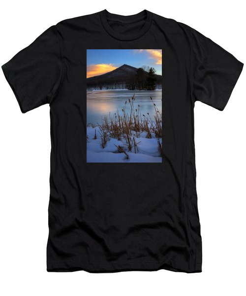 Snow At The Peaks Men's T-Shirt (Slim Fit) by Steve Hurt