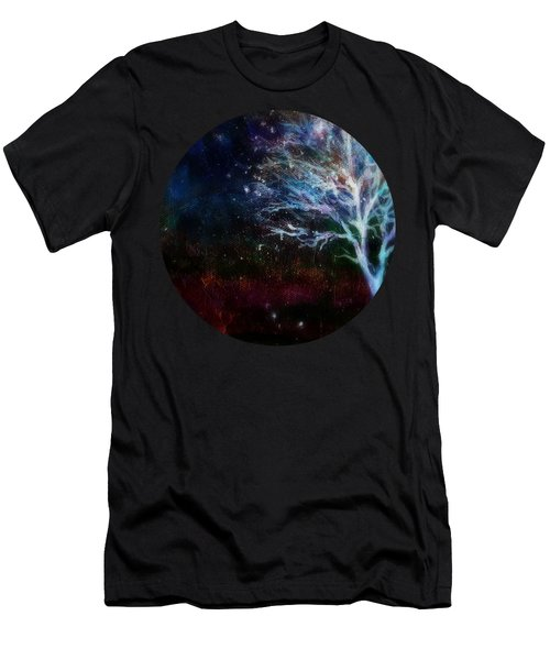 Snow At Twilight Men's T-Shirt (Athletic Fit)