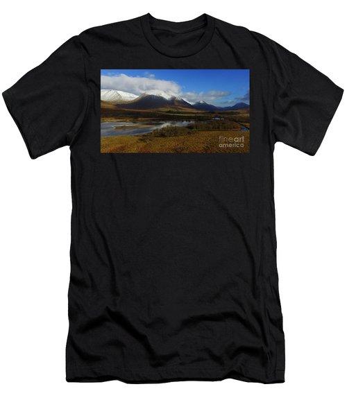 Snow Cap Mountains Men's T-Shirt (Athletic Fit)