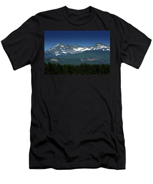 Snow Capped Mountains Men's T-Shirt (Slim Fit)
