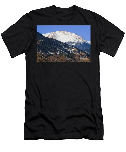 Snow Capped Pikes Peak In Winter Men's T-Shirt (Athletic Fit)