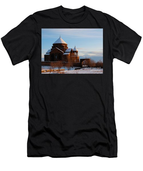 Snow Capped St. Hripsipe Church At Winter, Armenia Men's T-Shirt (Athletic Fit)