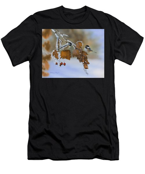 Snow Chickadees Men's T-Shirt (Athletic Fit)