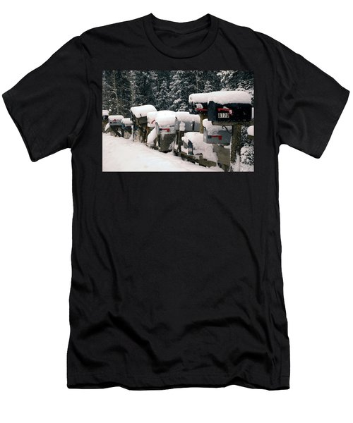 Snow Covered Mailboxes Men's T-Shirt (Athletic Fit)
