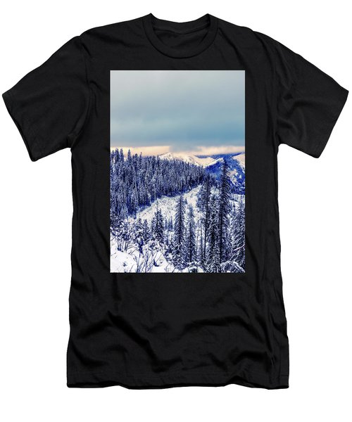 Snow Covered Mountains Men's T-Shirt (Athletic Fit)
