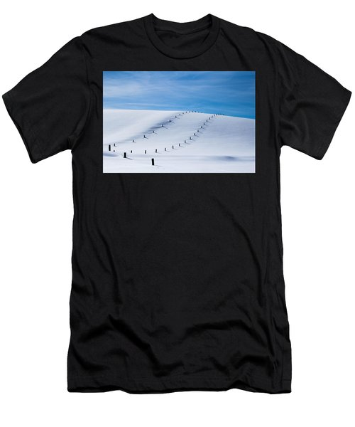 Snow Covered Pasture Men's T-Shirt (Athletic Fit)