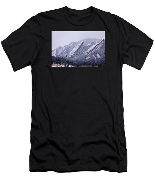 Snow Dusted Flatirons Boulder Colorado Men's T-Shirt (Athletic Fit)
