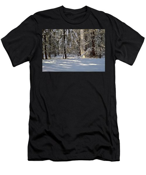 Snow Falling Off Cedars Men's T-Shirt (Athletic Fit)