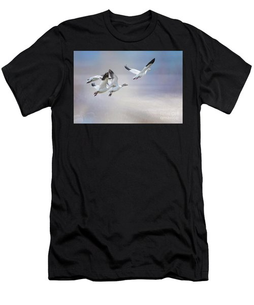 Snow Geese In Flight Men's T-Shirt (Athletic Fit)