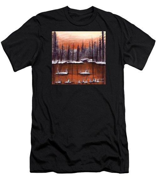 Snow Glow  Men's T-Shirt (Athletic Fit)