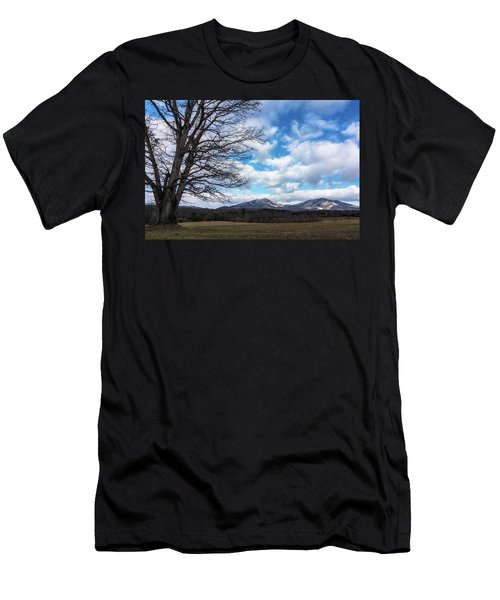 Snow In The High Mountains Men's T-Shirt (Athletic Fit)