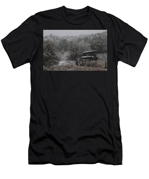 Snow In The Old Santa Fe Corral Men's T-Shirt (Athletic Fit)