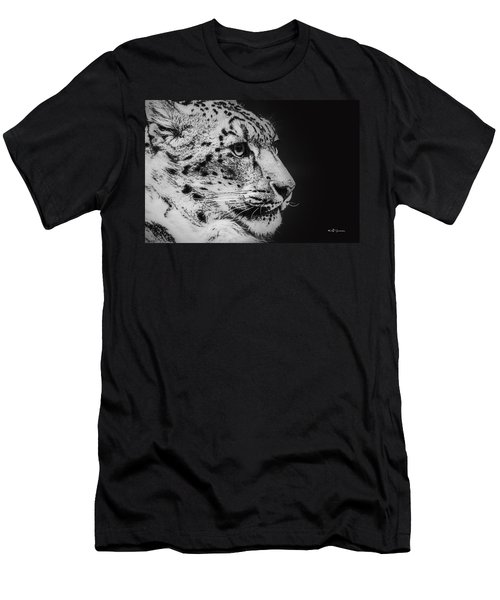 Snow Leopard Men's T-Shirt (Athletic Fit)
