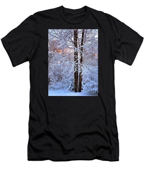 Snow Maple Morning Men's T-Shirt (Athletic Fit)