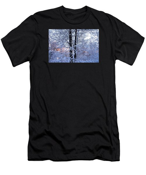 Snow Maple Morning Landscape Men's T-Shirt (Athletic Fit)