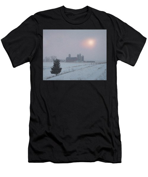 Snow Muted Sunset Men's T-Shirt (Athletic Fit)