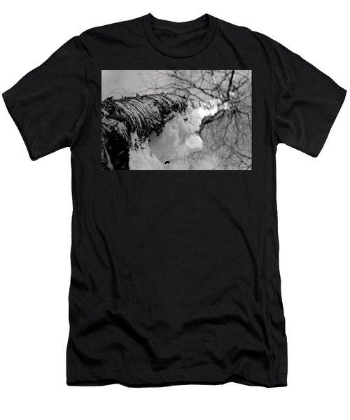 Snow On Birch Men's T-Shirt (Athletic Fit)