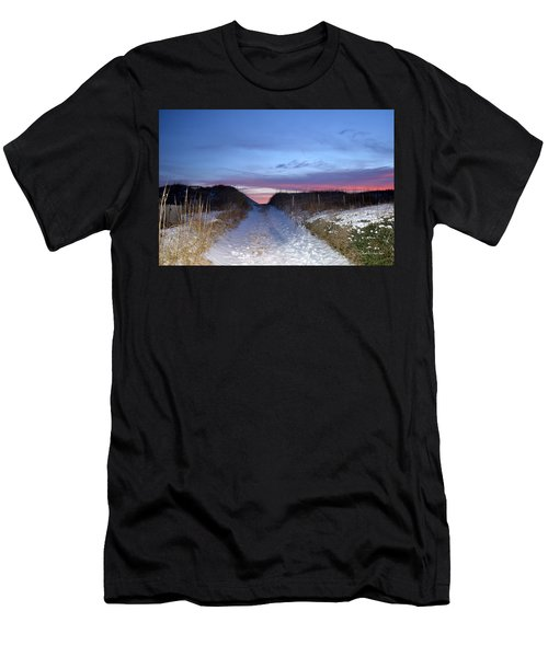 Men's T-Shirt (Athletic Fit) featuring the photograph Snow On The Dunes by Barbara Ann Bell