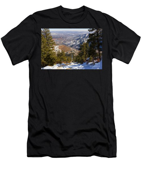 Snow On The Manitou Incline In Wintertime Men's T-Shirt (Athletic Fit)