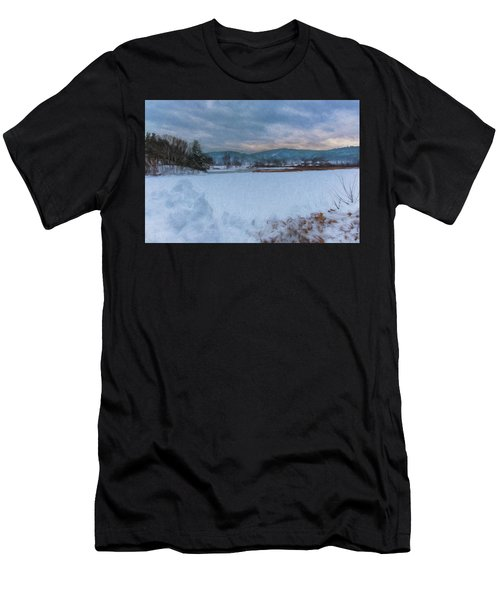 Snow On The West River Men's T-Shirt (Athletic Fit)