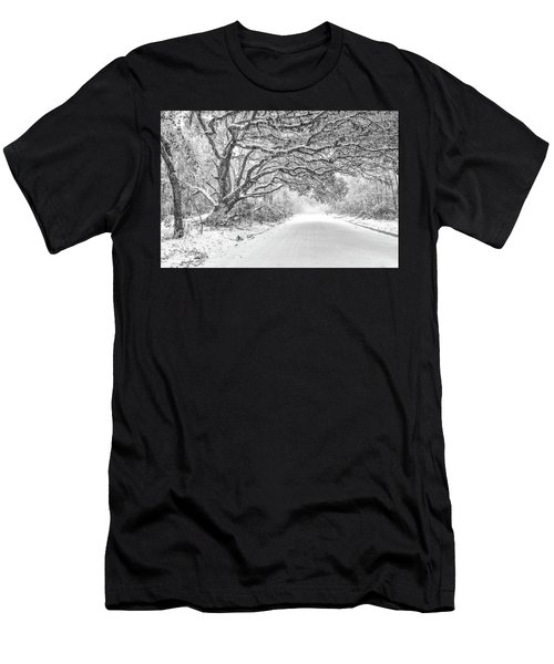 Snow On Witsell Rd - Oak Tree Men's T-Shirt (Athletic Fit)