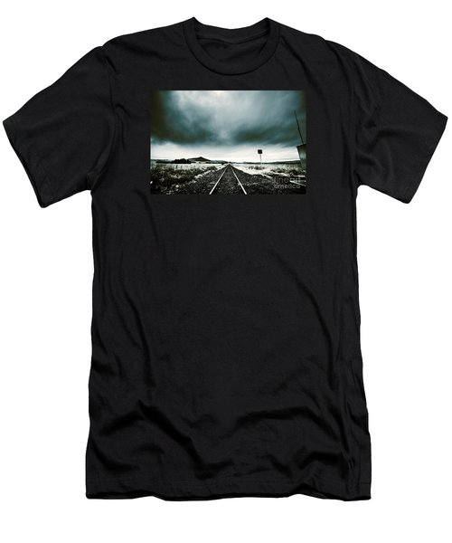 Men's T-Shirt (Athletic Fit) featuring the photograph Snow Railway by Jorgo Photography - Wall Art Gallery