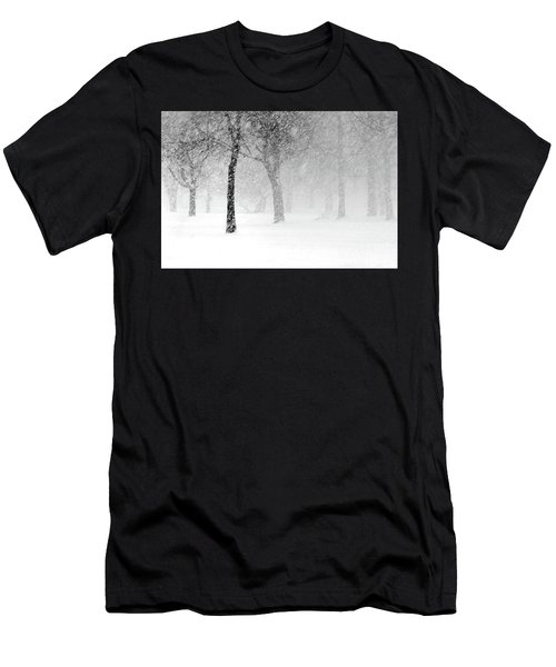 Snow Storm At Starved Rock Men's T-Shirt (Athletic Fit)
