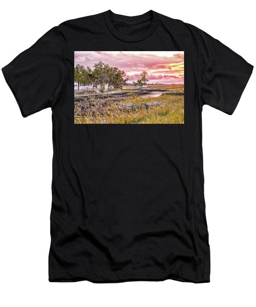 Snow Sunset -marsh View Men's T-Shirt (Athletic Fit)