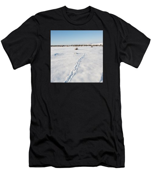 Snow Tracks Men's T-Shirt (Athletic Fit)
