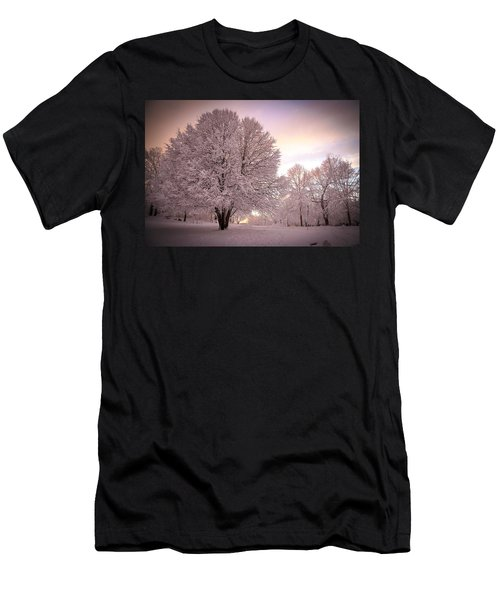 Snow Tree At Dusk Men's T-Shirt (Athletic Fit)