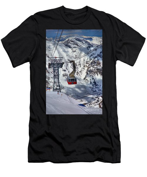 Snowbird Tram Portrait Men's T-Shirt (Athletic Fit)
