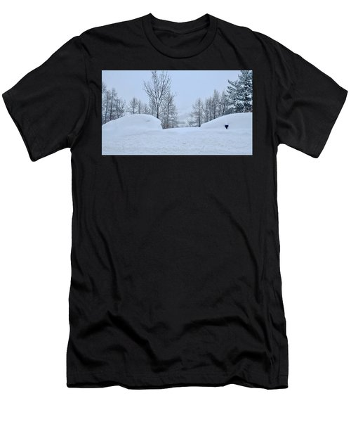 Men's T-Shirt (Athletic Fit) featuring the photograph Snowed-in by August Timmermans