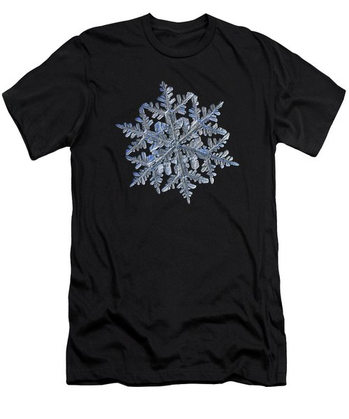 Snowflake Macro Photo - 13 February 2017 - 3 Black Men's T-Shirt (Athletic Fit)
