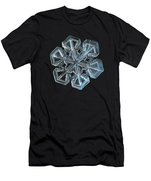 Men's T-Shirt (Slim Fit) featuring the photograph Snowflake Photo - Alcor by Alexey Kljatov